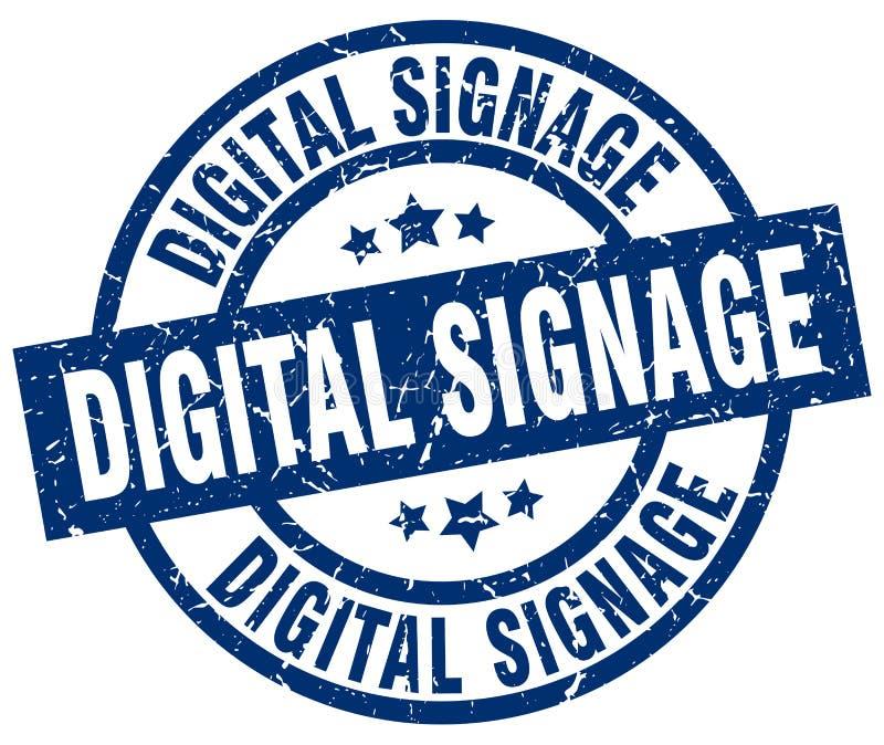 Bollo del contrassegno di Digital illustrazione di stock