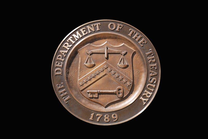 Bollo del dipartimento del Tesoro degli Stati Uniti immagine stock