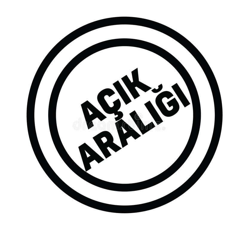 Bollo del pascolo libero nel turco illustrazione di stock