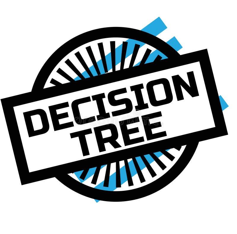 Bollo dell'albero di decisione della stampa su bianco illustrazione vettoriale