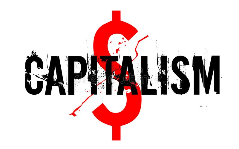 Bollo dell'autoadesivo di capitalismo royalty illustrazione gratis