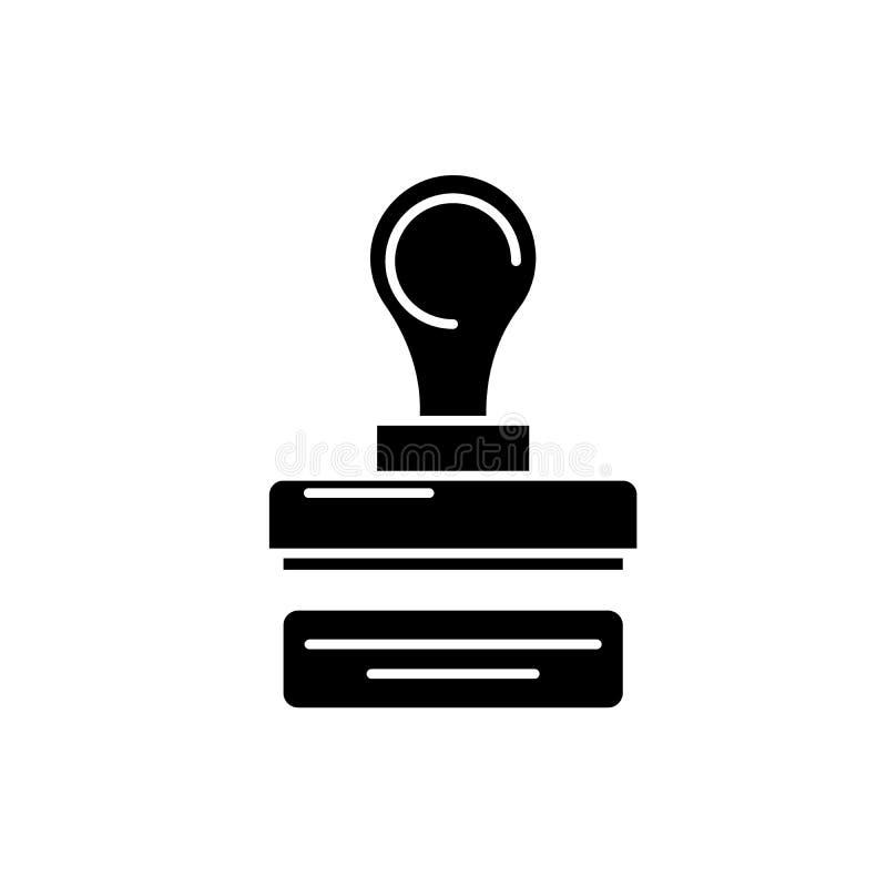 Bollo dell'icona del nero della società, segno di vettore su fondo isolato Bollo del simbolo di concetto della società, illustraz illustrazione di stock