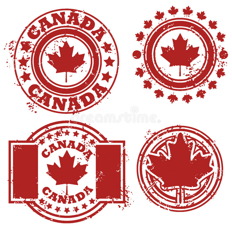 Bollo della bandierina del Canada illustrazione vettoriale