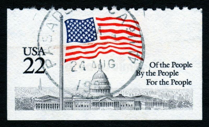 Bollo della Casa Bianca degli S.U.A. 22c fotografia stock