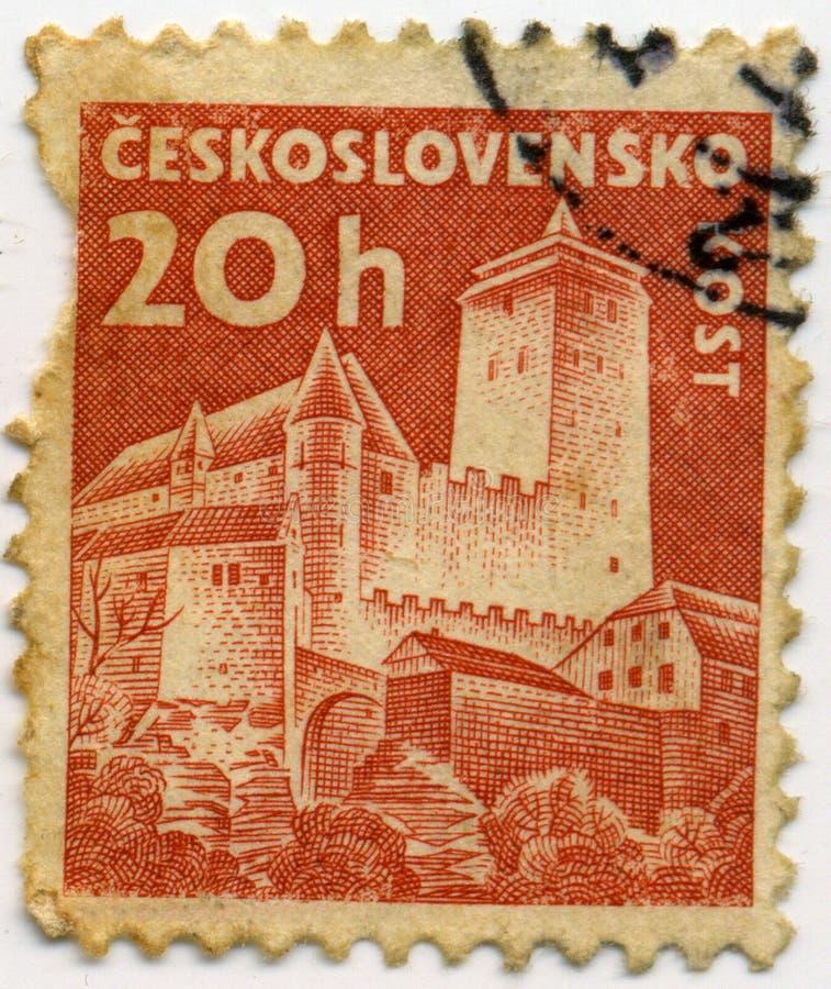 Bollo della Cecoslovacchia fotografie stock libere da diritti