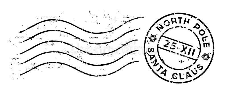 Bollo della posta di Natale isolato su bianco Vettore illustrazione vettoriale