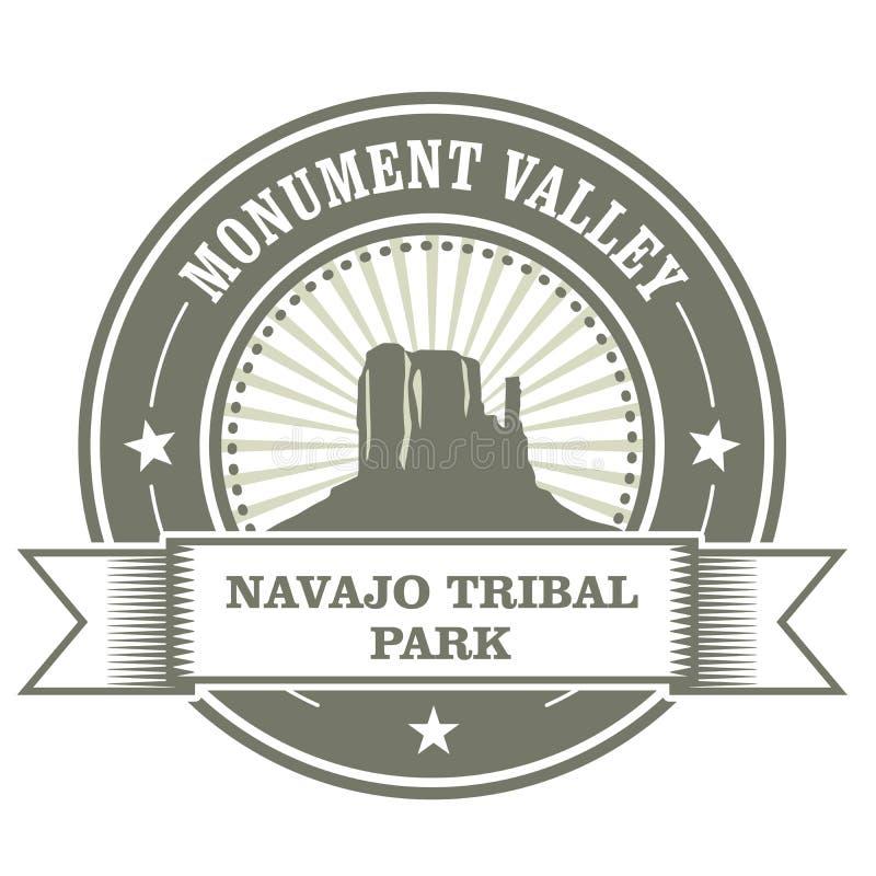 Bollo della valle del monumento - parco tribale navajo royalty illustrazione gratis