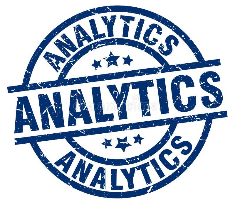 Bollo di analisi dei dati illustrazione di stock
