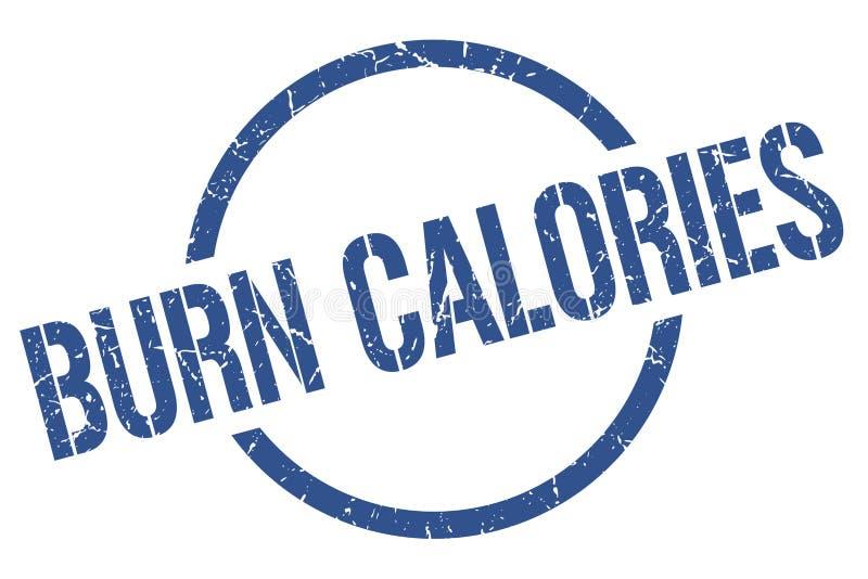 Bollo di calorie dell'ustione illustrazione di stock