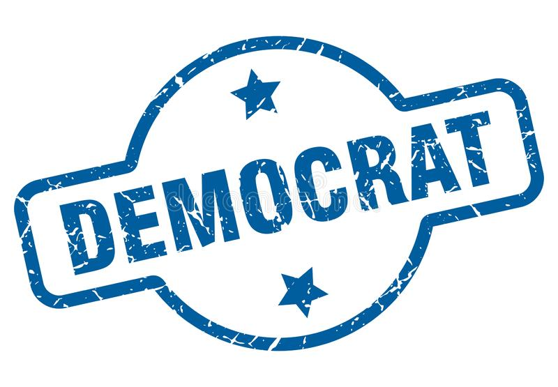 Bollo di Democratico illustrazione vettoriale