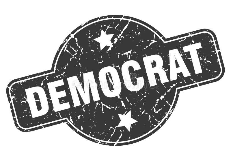 Bollo di Democratico illustrazione di stock