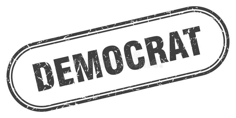 Bollo di Democratico royalty illustrazione gratis
