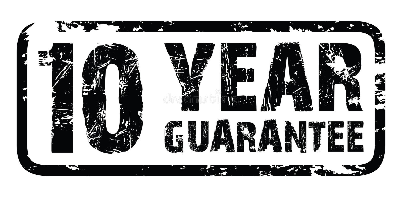 bollo di garanzia di 10 anni royalty illustrazione gratis
