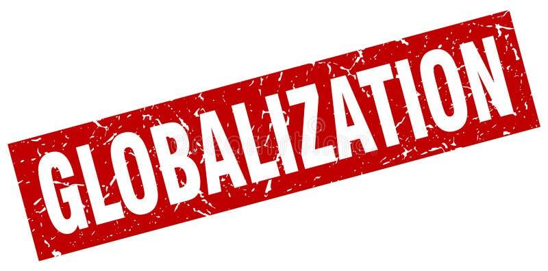 Bollo di globalizzazione illustrazione di stock