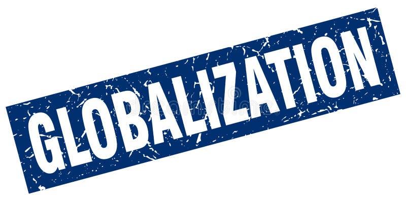 Bollo di globalizzazione illustrazione vettoriale