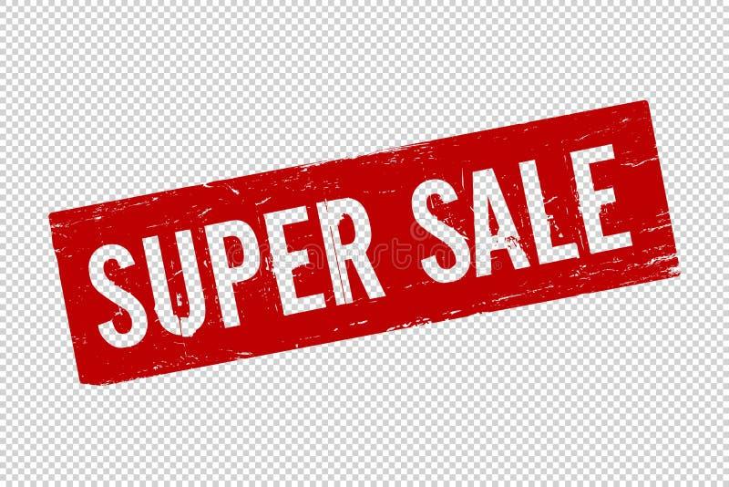 Bollo di gomma della guarnizione del quadrato eccellente rosso di vendita di lerciume illustrazione di stock
