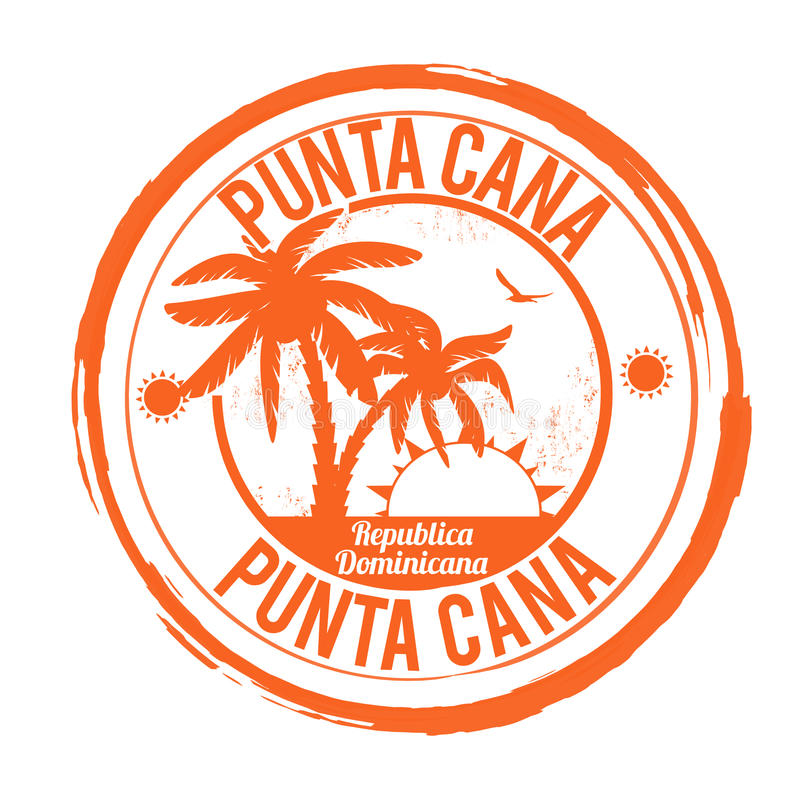 Bollo di Punta Cana royalty illustrazione gratis