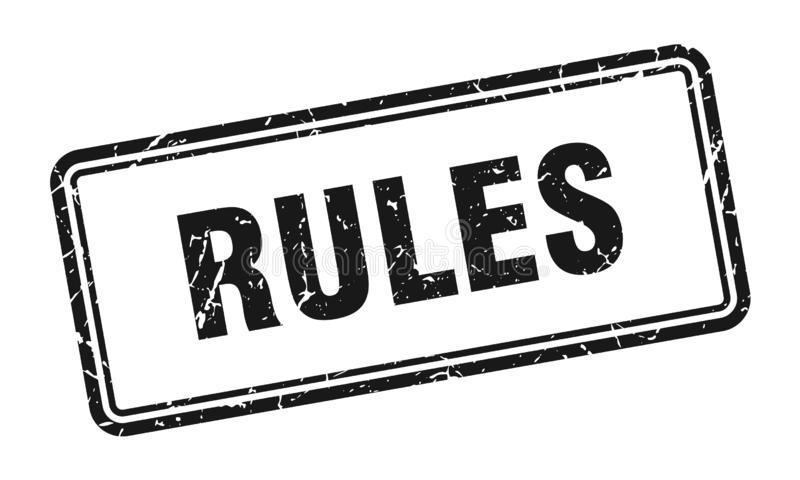 Bollo di regole illustrazione vettoriale