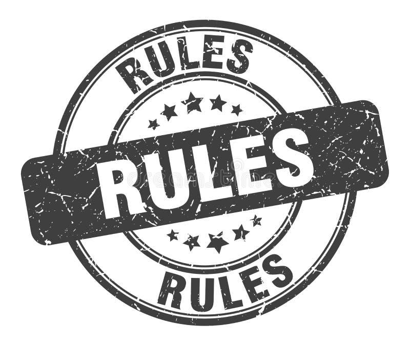 Bollo di regole illustrazione di stock