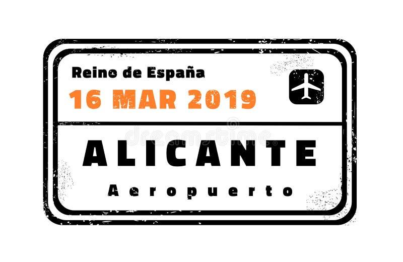 Bollo di vettore di Alicante illustrazione vettoriale