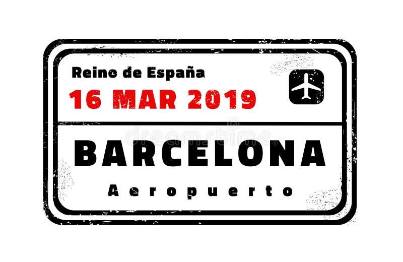 Bollo di vettore di Barcellona illustrazione vettoriale