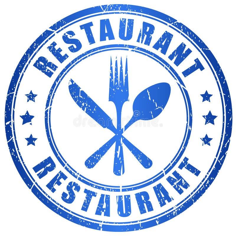 Bollo di vettore del ristorante illustrazione vettoriale