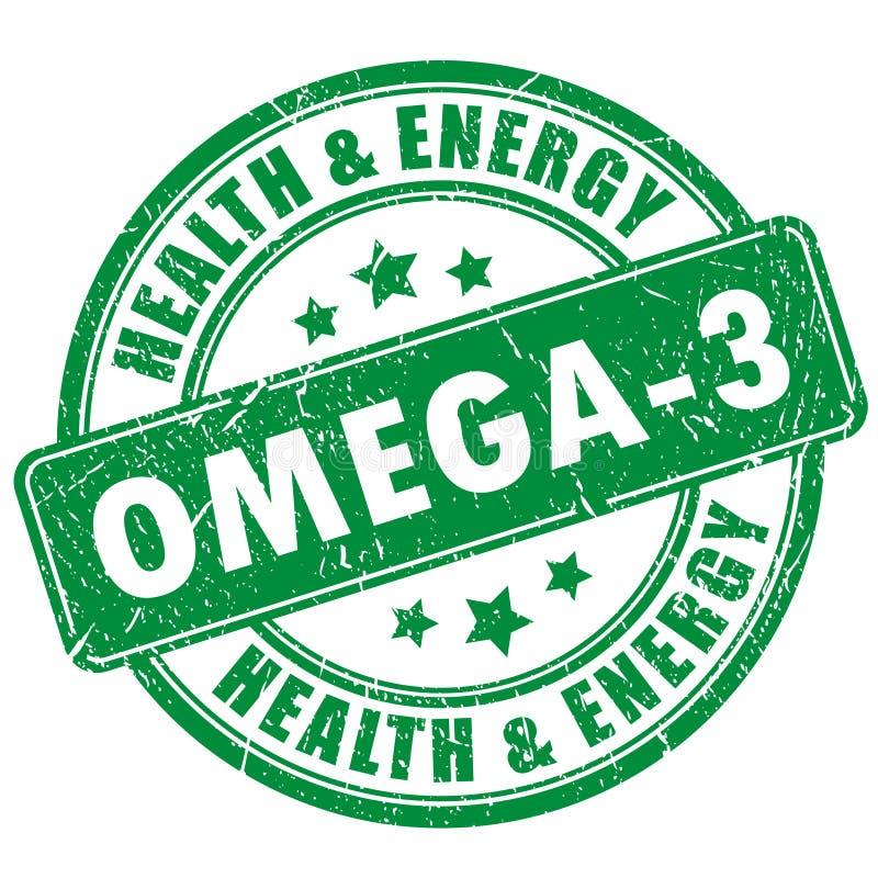 Bollo di vettore di Omega 3 illustrazione vettoriale
