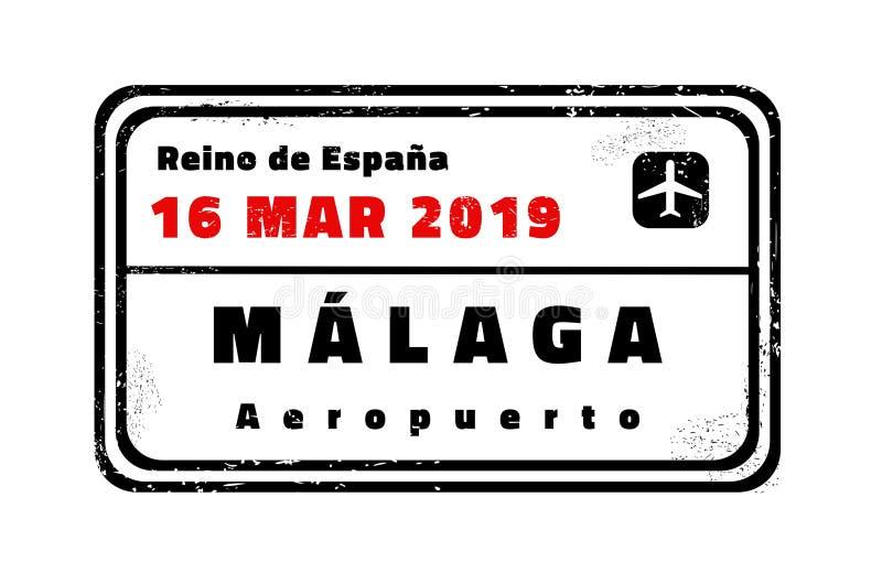 Bollo di vettore di Malaga illustrazione di stock
