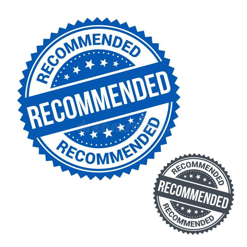 Bollo di vettore raccomandato Uso per l'etichetta, segno o illustrazione vettoriale