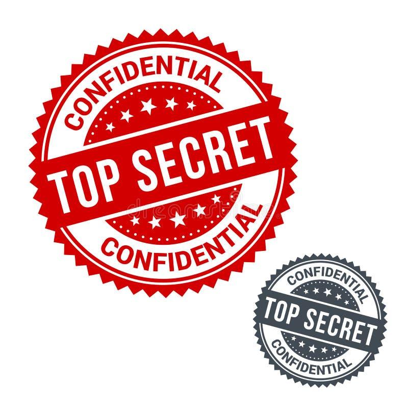 Bollo di vettore top-secret Uso per l'etichetta, segno o illustrazione vettoriale