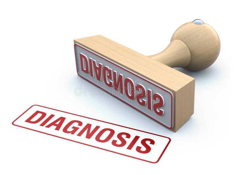 Bollo-diagnosi di gomma illustrazione di stock