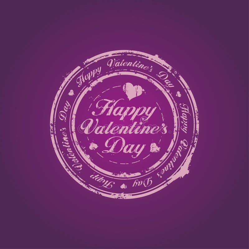 Bollo felice di giorno del biglietto di S. Valentino illustrazione di stock