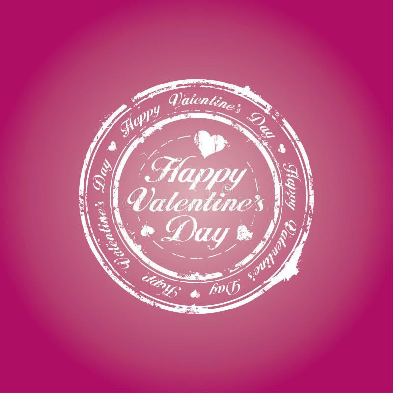 Bollo felice di giorno del biglietto di S. Valentino royalty illustrazione gratis