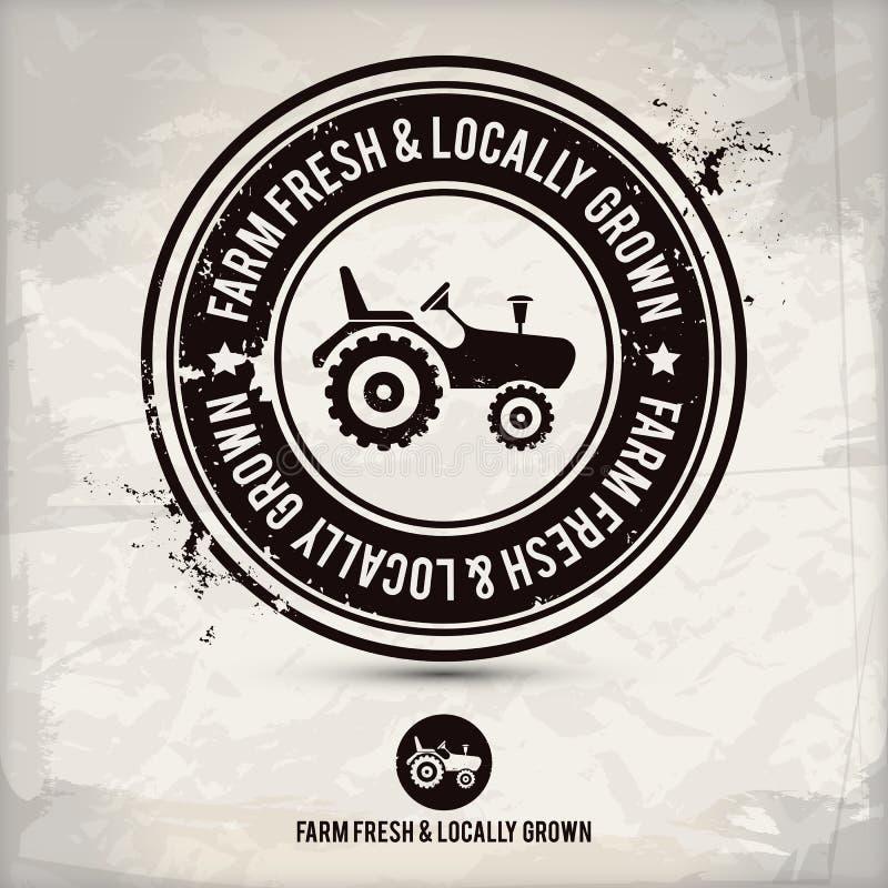 Bollo fresco & coltivato sul posto dell'azienda agricola alternativa royalty illustrazione gratis