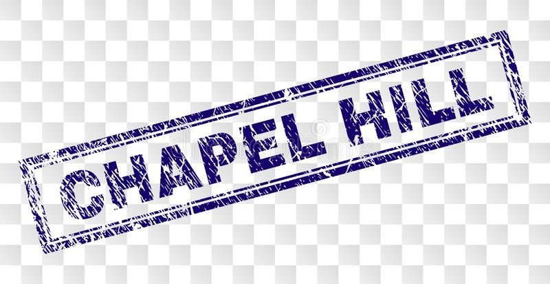 Bollo graffiato di rettangolo di CHAPEL HILL illustrazione di stock