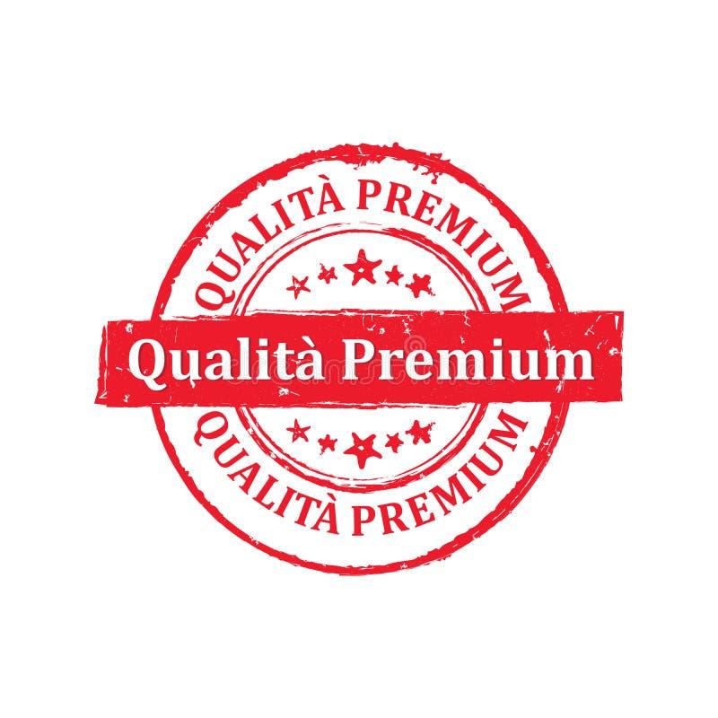 Bollo italiano di qualità premio per la stampa illustrazione vettoriale