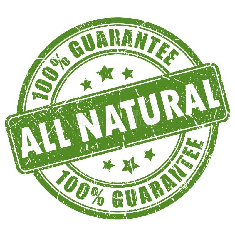 Bollo naturale di garanzia royalty illustrazione gratis