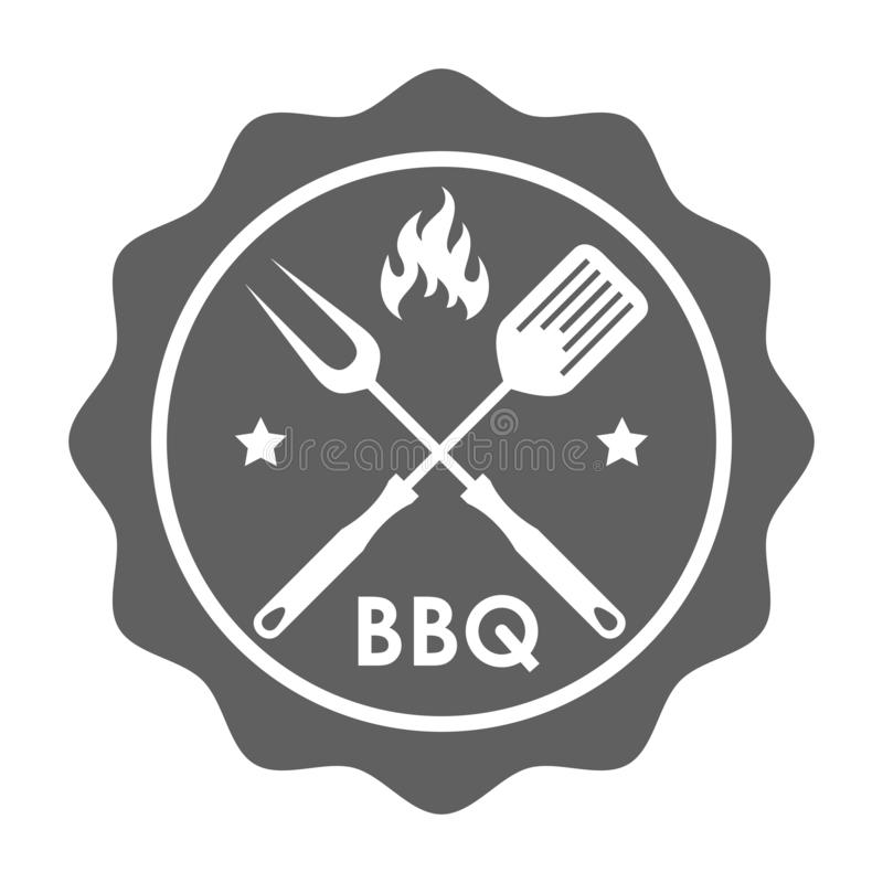 Bollo per il menu del barbecue royalty illustrazione gratis