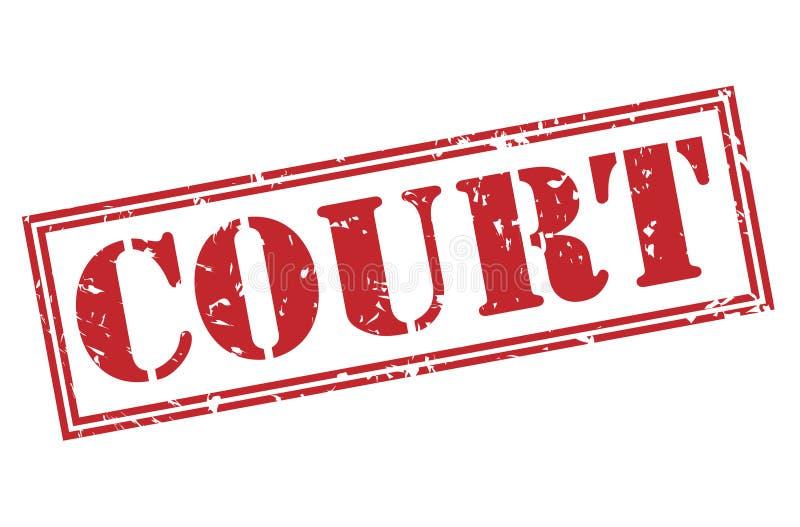 Bollo rosso della corte royalty illustrazione gratis