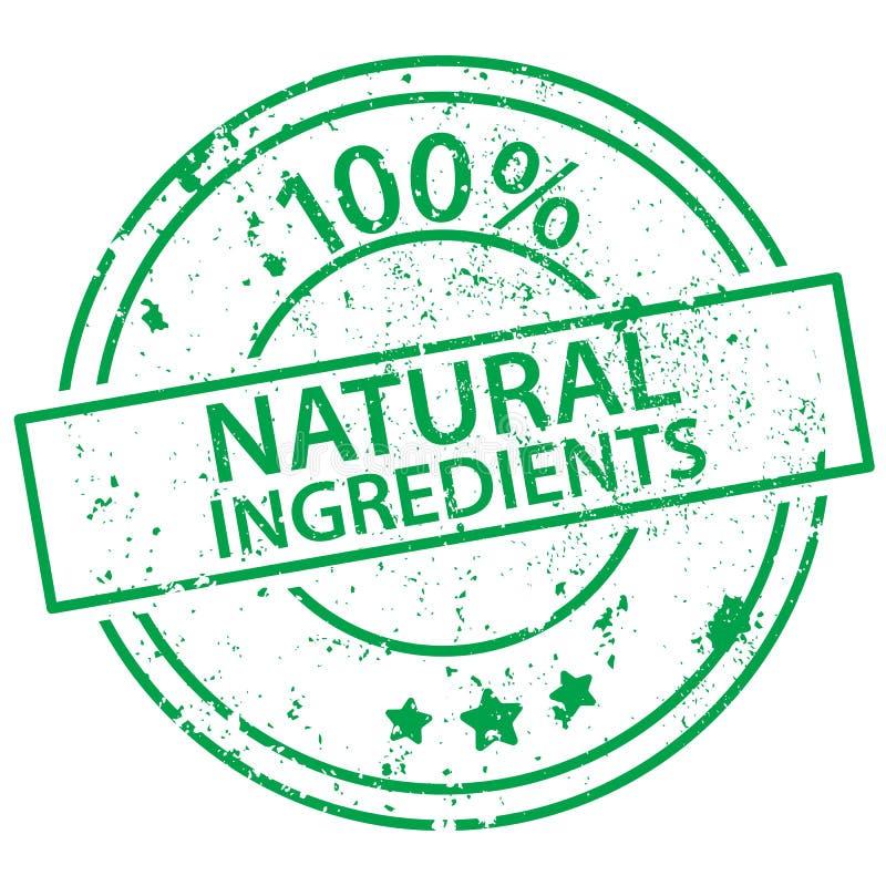 Bollo rotondo - ingredienti naturali di 100% illustrazione di stock