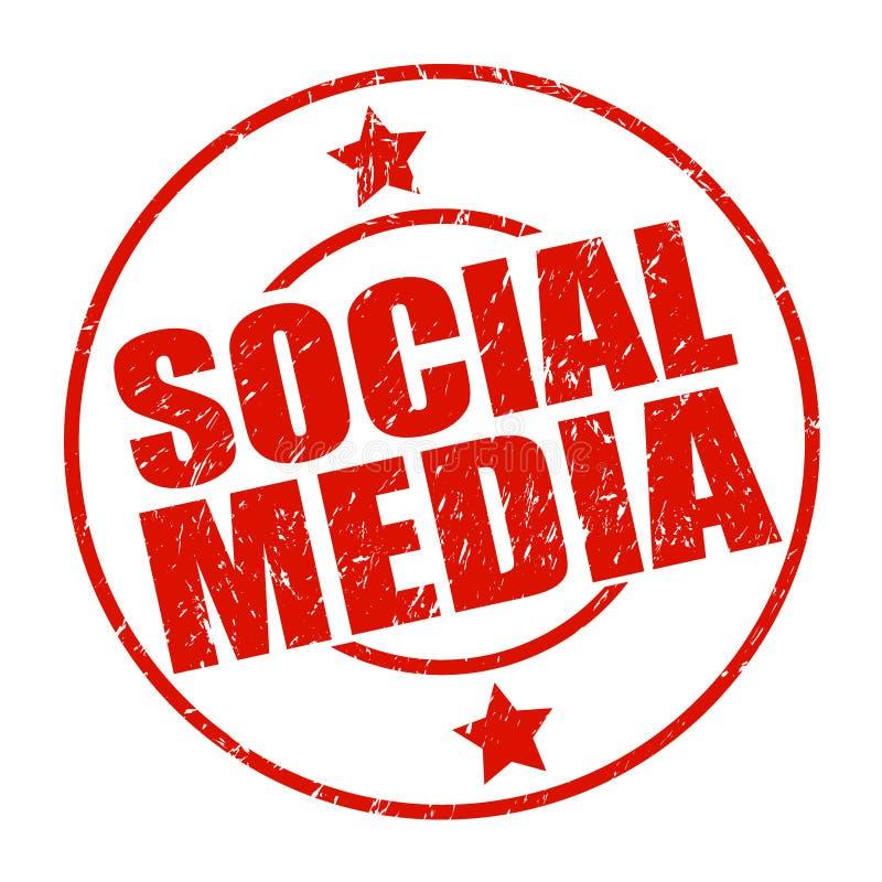 Bollo sociale di media illustrazione vettoriale