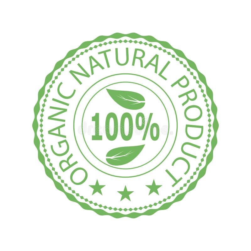 Bollo verde per il prodotto biologico naturale royalty illustrazione gratis