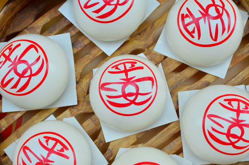 Bollos blancos dulces, Cheung Chau Bun Festival foto de archivo