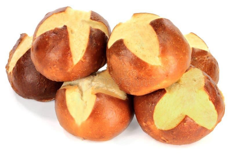 Bollos del pretzel en pila. fotografía de archivo libre de regalías