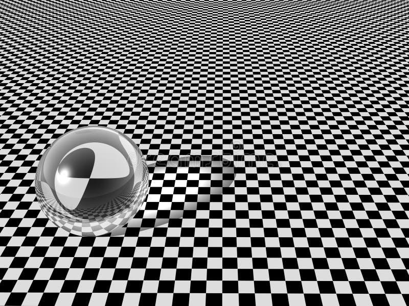 bollschackbrädeexponeringsglas vektor illustrationer