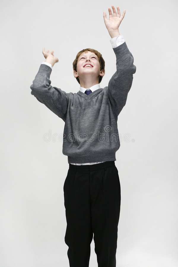 bollschoolboy royaltyfria bilder