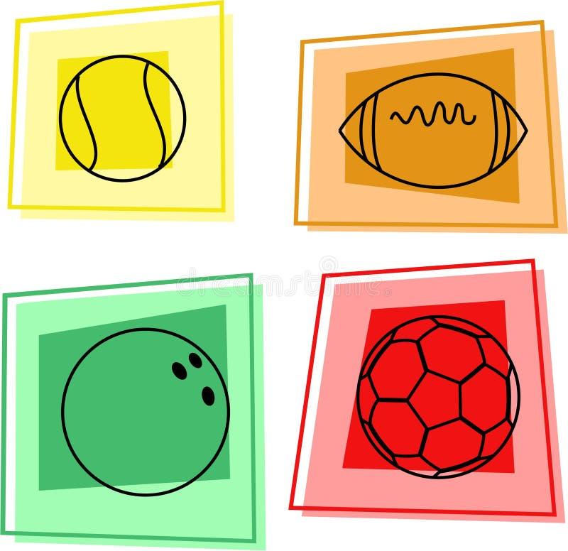 bollsport royaltyfri illustrationer