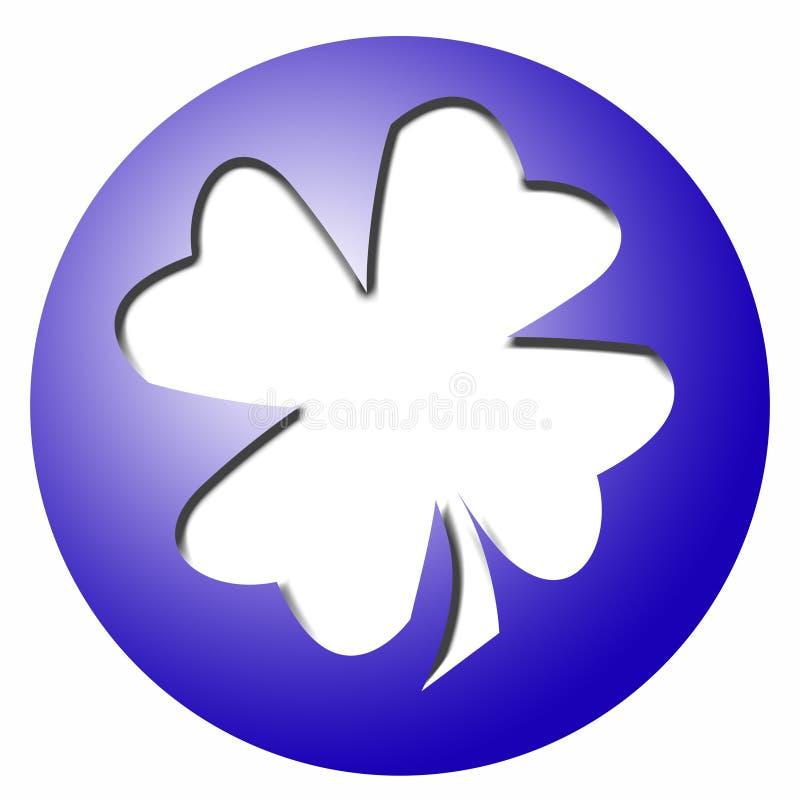 bollväxt av släkten Trifoliumleaf royaltyfri illustrationer