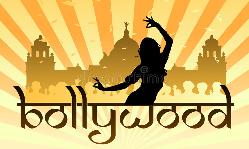 bollywood影片印地安人行业 库存例证