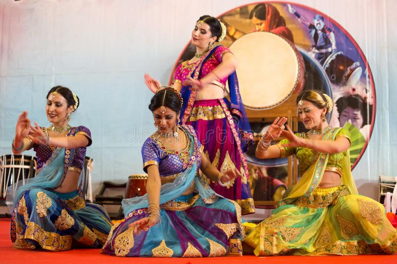 Bollywood show during Oriental Festival in Genoa, Italy royalty free stock image
